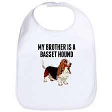 My Brother Is A Basset Hound Bib