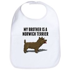 My Brother Is A Norwich Terrier Bib