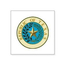 "Cute Republic of texas Square Sticker 3"" x 3"""