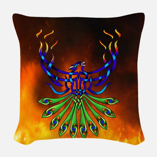 Phoenix Pacis Woven Throw Pillow