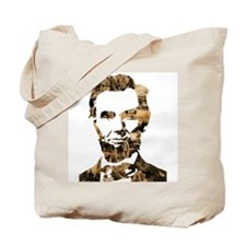 Abraham Lincoln Collage Tote Bag