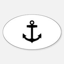 Anchor ship Sticker (Oval)