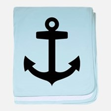 Anchor ship baby blanket