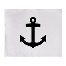 Anchor ship Throw Blanket
