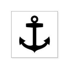 "Anchor ship Square Sticker 3"" x 3"""