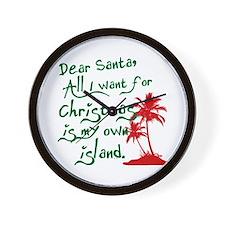 Christmas Island Wall Clock