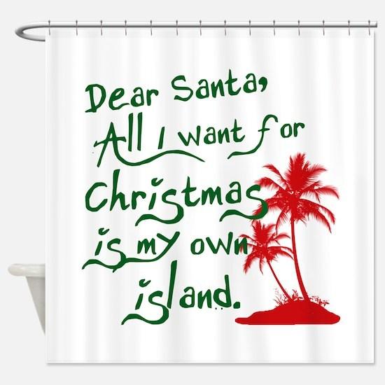 Christmas Island Shower Curtain