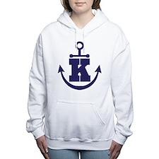Anchor Monogram K Women's Hooded Sweatshirt
