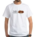 Waffles Goddess White T-Shirt