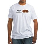 Waffles Goddess Fitted T-Shirt