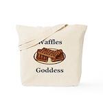 Waffles Goddess Tote Bag