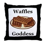 Waffles Goddess Throw Pillow