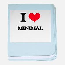 I Love Minimal baby blanket