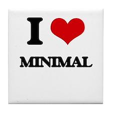 I Love Minimal Tile Coaster
