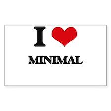 I Love Minimal Decal