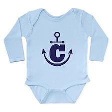 Anchor Monogram C Long Sleeve Infant Bodysuit