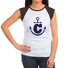 Anchor Monogram C Women's Cap Sleeve T-Shirt