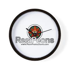 Real Peons Wall Clock