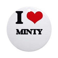 I Love Minty Ornament (Round)
