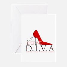 I Define D.I.V.A. Greeting Cards