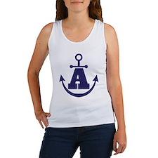 Anchor Monogram A Women's Tank Top