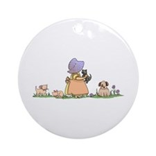 LIFE IN THE COUNTRY Ornament (Round)
