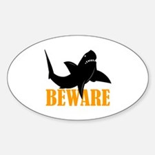 BEWARE OF SHARKS Decal
