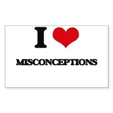 I Love Misconceptions Decal