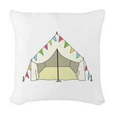 GLAMPING TENT Woven Throw Pillow