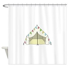 GLAMPING TENT Shower Curtain