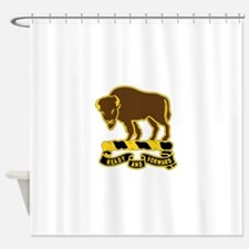 10 Cavalry Regiment.psd.png Shower Curtain