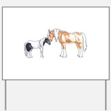 CLYDESDALE AND PONY Yard Sign