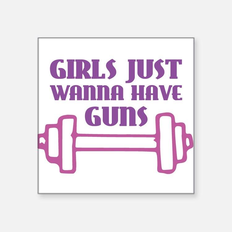 Girls Just Wanna Have Guns Sticker