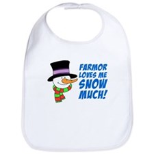 Farmor Loves Me Snow Much Bib