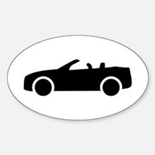 Car convertible Sticker (Oval)