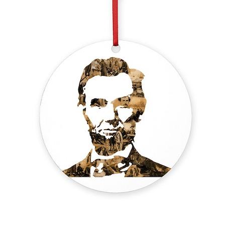 Abraham Lincoln Collage Ornament (Round)