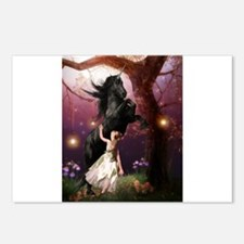 The Girl and the Dark Unicorn Postcards (Package o