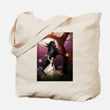 The Girl and the Dark Unicorn Tote Bag