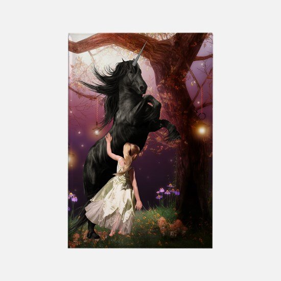 The Girl And The Dark Unicorn Magnets