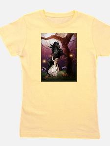 The Girl and the Dark Unicorn Girl's Tee