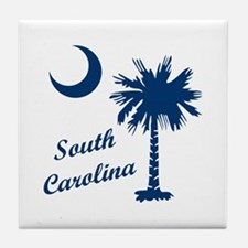 SOUTH CAROLINA PALMETTO Tile Coaster