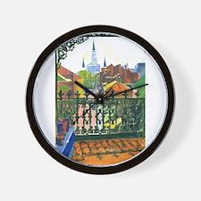 French Quarter Balcony Wall Clock