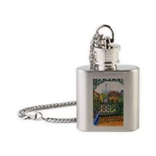 French Quarter Balcony Flask Necklace