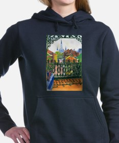 French Quarter Balcony Women's Hooded Sweatshirt