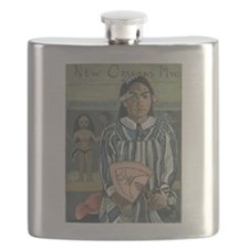 New Orleans Art Woamn Flask