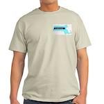 True Blue Massachusetts LIBERAL --Ash Grey T-Shirt