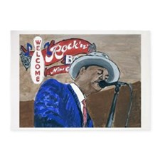 Blues Singer 5'x7'Area Rug
