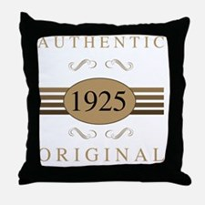 1925 Authentic Throw Pillow