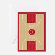 Basketball Court Greeting Cards