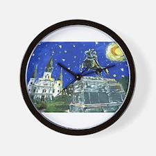 Stary Jackson Square Wall Clock